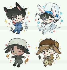 Anime Chibi, Chibi Boy, Cute Chibi, Manga Anime, Magic Kaito, Last Game Manga, Top Anime, Heiji Hattori, Detective Conan Shinichi