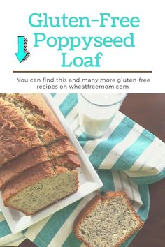 This gluten-free poppyseed loaf is moist and delicious and is the perfect slice with a cup of tea or coffee in the afternoon. Gluten Free Banana, Gluten Free Flour, Loaf Recipes, Gluten Free Recipes, Banana Bran Muffins, Tea Loaf, Baking Power, Breakfast Options, Afternoon Snacks
