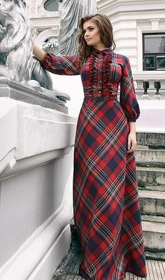 Maxi Plaid Dress 2015 Year Summer Style New Fashion Female 3/4 Sleeve Red Green Long Floor Length Womens Plus Size Clothing From Allmaker02, $29.08 | Dhgate.Com Nail Design, Nail Art, Nail Salon, Irvine, Newport Beach