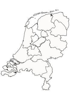 Kleurplaat Nederland. Kinderen leren terwijl ze kleuren. Afbeeldingen voor scholen en onderwijs - afb 9997.