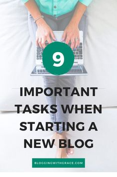 Are you looking to start a blog? Read my 9 point checklist for a new blogger with tasks that should be completed when you start a blog for beginners. Starting a new blog can be overwhelming and there is much to do to launch a new blog. Starting the right way can take the stress out of being a new blogger.