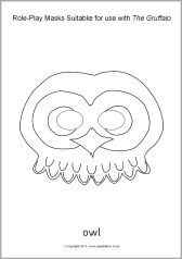 Forest Animal Masks: Great mask templates to colour in or