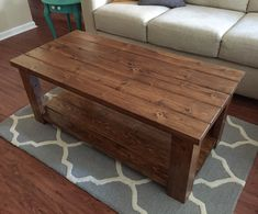 Coffee Table With Minwax Early American Stain