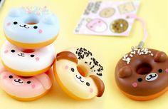 cute, kawaii, and donuts image Kawaii Shop, Kawaii Cute, Kawaii Stuff, Squishy Kawaii, Crea Fimo, Cute Squishies, Kawaii Dessert, Cute Donuts, Polymer Clay Charms