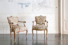 """Twin Chairs by Yukiko Nagai; instead of fabric upholstery, the chairs' """"cushions' are actually a mosaic made of rock, marble, and glass tiles"""