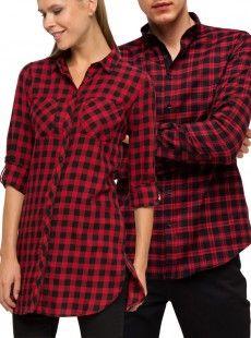 Ekoseli Çift Sevgili Gömlekleri