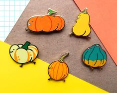 """A squash booty enamel pin that'll make people say, """"Oh my ~gourd~ I love your pin so much!"""" throughout all of fall. 26 Food-Themed Accessories That Just Might Leave You Hungry For Cinderella Pumpkin, Jacket Pins, Cool Pins, Pin And Patches, Up Girl, Pin Badges, Lapel Pins, Pin Collection, Etsy Seller"""