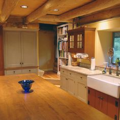 St. Louis 6 Log Cabin Painted Kitchen - traditional - kitchen - st louis - The Workshops of David T. Smith