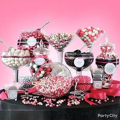 Candy bar ideas partycity.com Love it but in green and black