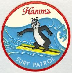 Hamms Beer Surf Patrol Bear T Shirt Hamms Bear | eBay
