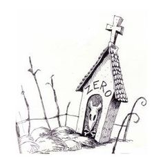 Graveyard gate concept sketch from The Nightmare Before