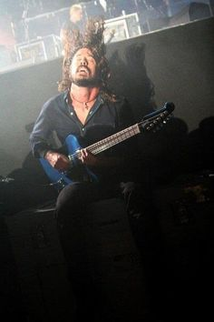 Dave and his blue guitar (My kind of blue on black)