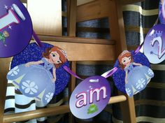 Sofia the First High Chair Banner Birthday by brightness23 on Etsy. Personalize your banner for your guest of honor!