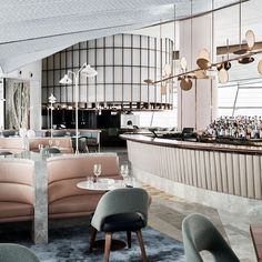 We are designing another well-known restaurant appreciated for its style, brand and panache! How's this for a little inspiration to get our… Restaurant Design, Restaurant Bar, Australian Interior Design, Monday Inspiration, Banquette Seating, Vogue Living, Hospitality Design, Elle Decor, Dining Area