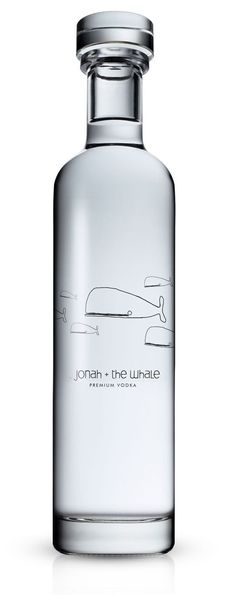 "Jonah + The Whale: A great project designed by Talia Cohen out of Vancouver. ""A whimsical and childlike look for a premium Vodka. Who says Alcohol, Children and the Bible can't mix ;)"" / Packagind / Design / Ideas / Inspiration / Minimal / Bottle / Vodka / Drink / Glass / Illustration / Modern /"