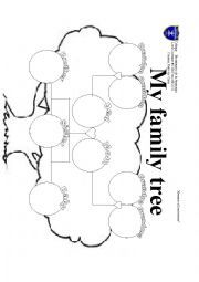 english worksheet  family tree