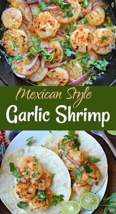 Learn how to make Mexican-style Garlic Shrimp, which are easy to make and delicious at any time of the year. Learn how to make Mexican-style Garlic Shrimp, which are easy to make and delicious at any time of the year. Mexican Shrimp Recipes, Shrimp Recipes Easy, Fish Recipes, Seafood Recipes, Cooking Recipes, Healthy Recipes, Easy Shrimp Tacos, Garlic Shrimp Recipes, Gastronomia