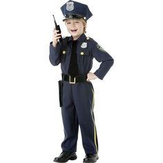 Police Officer Costume Set Toddler T2 Deluxe Childrens S.W.A.T