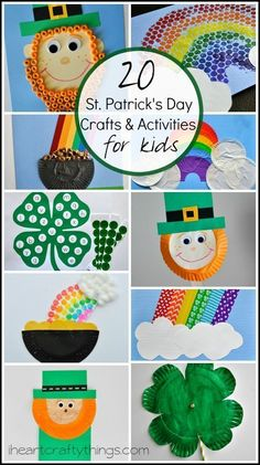 20 St. Patrick's Day Crafts and Activities for Kids from http://iheartcraftythings.com.