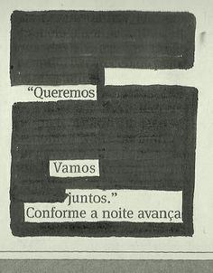 "Poesia ""achada"" no jornal do dia 25/01 pela poeta Elisa Andrade Buzzo."