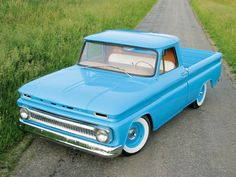 Baby Blue 1965 Chevy Truck