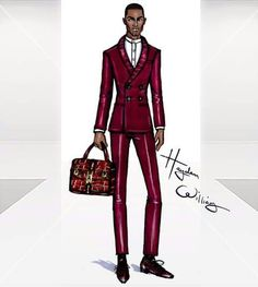 'The burgundy Suit' by Hayden Williams