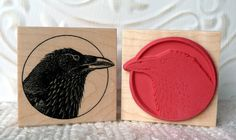 Raven rubber stamp.