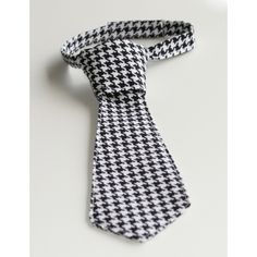 Adjustable Neck Tie - Tiny Houndstooth