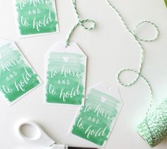DIY Gift Wrapping Ideas     Watercolor Wedding Tag by Kori Clark. Make It Now with the Cricut Explore Machine in Cricut Design Space.