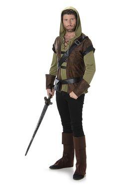Robin Hood Fantasy Ranger Kostuum Heren