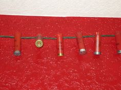 Repurposed Shotgun Shell Party Lights - Free Shipping to US- Red Ammo Crafts, Party Lights, One Light, Shotgun, Repurposed, I Am Awesome, Shells, Triangle, Bulb