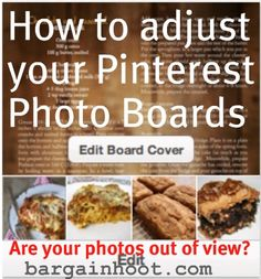 Tidy up those photo boards so the image you want is in view. Here's a little  tutorial. Easy!