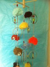 Knitted Hedgehog Mobile, Suncatcher Handcrafted and Designed By Yours Truly