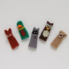 Knitting Patterns For Finger Puppets Free : FREE pattern from Susie Johns Knitted Finger Puppets: a spooky witch! Gr...