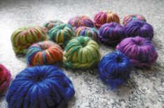 FELTING: Some left over felting yarn...