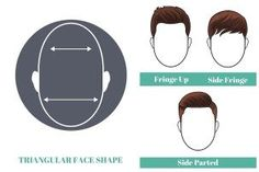 cool best short hairstyles for men with triangular face shape...