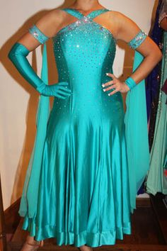 Teal Diamond Gown for sale
