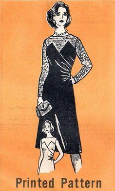 Marian Martin 9470 Smooth Operator Cocktail Dress / ca. 1970
