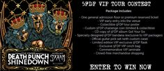 Enter here for your chance to win a Five Finger Death Punch Tour VIP Package that includes tickets, merchandise, and MORE! Winner will be notified 5 days prior to show date. Personal Information will only be used to contact the winner. Share this contest for more chances to win!