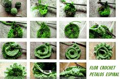 Patrones Crochet: Flor de Crochet Petalos Espiral