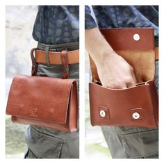 BELT POUCH in cognac LEATHER/Bags & wallets/Leather by ElMato