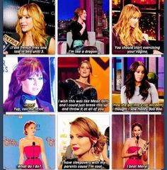 Jennifer Lawrence not only is she beautiful she's hilarious
