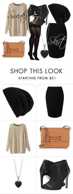 """""""Sweater & Skirt"""" by arya-sukhadeve ❤ liked on Polyvore featuring Rick Owens, Jacques Vert, Valentino, BERRICLE and Cole Haan"""