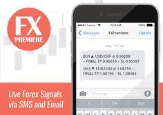 Live Forex signals sent daily via SMS & Email http://www.fxpremiere.com #forex #forexsignals #fxsignals