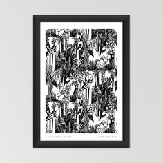 Moomin poster - Hemulens in the forest - Tove Jansson