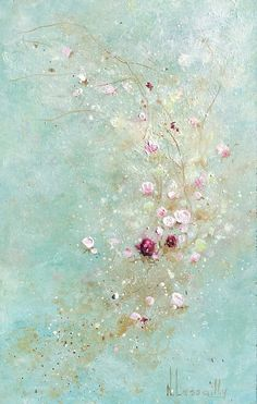 Lady by Noëlle Lassailly Painting Inspiration, Art Inspo, Encaustic Art, Of Wallpaper, Wallpaper Backgrounds, Wallpapers, Abstract Flowers, Aesthetic Art, Flower Art