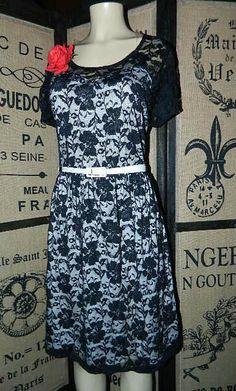 3X, PLUS SIZE LIBIAN ROCKABILLY PINUP 50'S, BLACK FULL LACE DRESS NWT PROM DRESS #Libian #LittleBlackDress