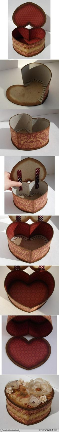 .Tektura DIY Heart Shaped Box.