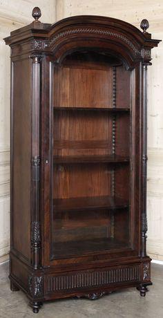 Antique Louis XVI Rosewood Neoclassical Armoire #antique #antiquefurniture #armoire