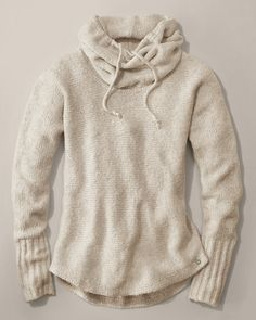 Once again....horizontal ribbed sweater.  MAKE!  *Sleep Sweater | Eddie Bauer